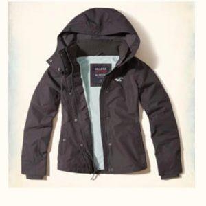 Hollister size M Gray Fleece Hood Coat Snow